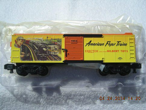 48381 American Flyer 1953 Catalog Art Boxcar