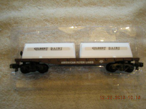 48576 American Flyer Flatcar With Gilbert Dairy Milk Containers