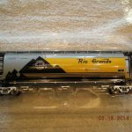 48644 Denver & Rio Grande Cylindrical 3 Bay Hopper Car