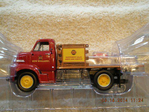 19-3913 1953 Ford COE New Holland Stake Truck