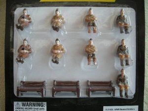 21435 World War II Seated Figures