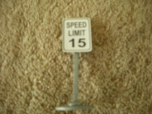 348 Speed Limit 15 Road Sign