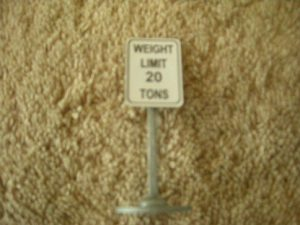 349 Weight Limit 20 Tons Road Sign