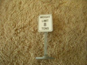 353 Weight Limit 8 Tons Road Sign