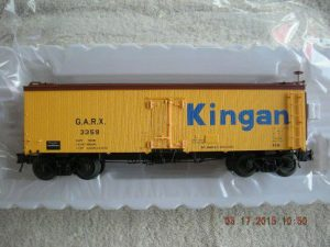 3001413 Kingan 36' Wood Side reefer car