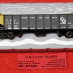 20004893 Atlas HO Scale Chesapeake & Ohio 70 ton hopper car