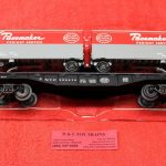 83169 Lionel O Scale New York Central flat car with pup trailers