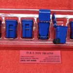 90-0518 First Gear 1:34th scale blue trash carts
