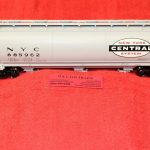 3002219 Atlas O Scale 2 rail New York Central 3 bay cylindrical hopper car