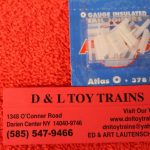 6093 Atlas O scale 3 rail insulated rail joiners