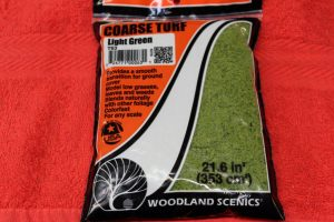 T63 Woodland Scenics Light Green coarse turf