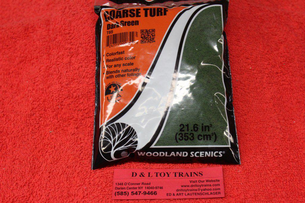 Woodland Scenics  Dark Green Grass Course Turf T65