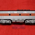 1638 Atlas O scale 3 rail Western Pacific phase 2 (early) F3 B unit