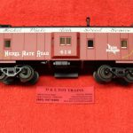 2001743 Atlas O scale 3 rail Nickel Plate Road bay window caboose