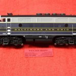 30136006 Atlas O scale 3 rail Balitmore & Ohio phase 1 F3 A unit diesel engine