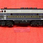 30136006 Atlas O scale 3 rail Balitmore & Ohio phase 1 F3 A unit diesel engine