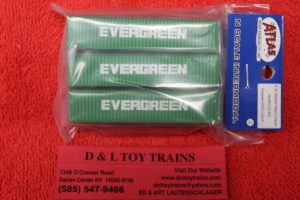 50003854 Atlas N scale Evergreen 40' containers