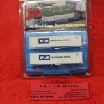 5131 Intermountain N scale Zim 40' rib side container set