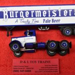 60-0492 First Gear 1:64th scale Peterbilt Burgermeister Beer 351 day cab trator trailer