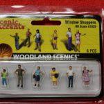 1825 Woodland Scenics HO scale window shopers figures