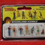 1907 Woodland Scenics HO scale Golfers figures