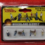 2123 Woodland Scenics N scale dock workers figures