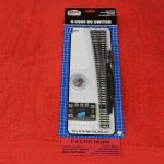 2719 Atlas N Scale Code 80 left hand remote #8 turnout
