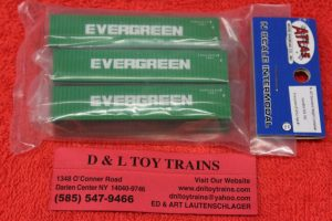 50004160 Atlas N Scale Evergreen 40' container set 1