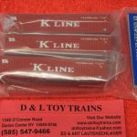50004162 Atlas N Scale K Line 40' container set 1