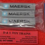 50004164 Atlas N Scale Maersk 40' container set 1