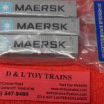 50004165 Atlas N Scale Maersk 40' container set 2