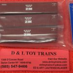 50004169 Atlas N Scale Zim 40' container set 2