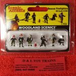 1961 Woodland Scenics HO scale rescue firefighters figures