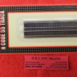 "2003 Atlas N scale code 55 4 1/4"" straight track 6 pack"