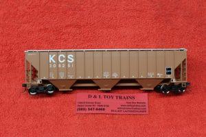 20005461 Atlas HO scale Kansas City Southern Thrall covered hopper car