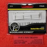 2990 Woodland Scenics N scale barbed wire fence