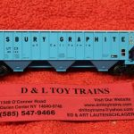 50004707 Atlas N scale Union Tank Car Thrall 4750 covered hopper car