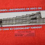 561 Atlas HO scale code 83 # 4 left hand turnout