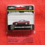 5361 Woodland Scenics HO scale modern era maroon coupe