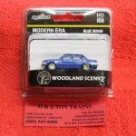 5363 Woodland Scenics HO scale modern era blue sedan