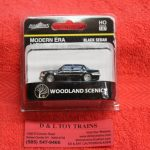 5367 Woodland Scenics HO scale Modern Era black sedan