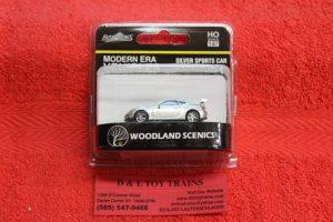 5368 Woodland Scenics HO scale modern era silver sports car