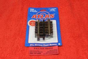 "6015 Atlas O scale 3 rail 1 1/4"" straight track"