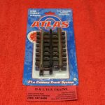 "6052 Atlas O scale 3 rail 1 3/4"" straight track"