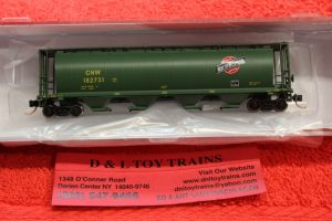 65124 Intermountain N scale Chicago North Western 4 bay cylindrical hopper car