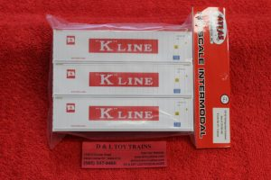 20005961 Atlas HO scale K-Line 40' Refigerated container set #1