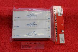 20005964 Atlas HO scale NYK Logistics 40' refrigerated container set #2