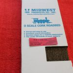 30162 Mid West Products O scale 2 or 3 rail cork roadbed