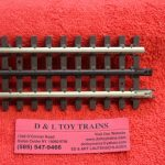"6051 Atlas O scale 3 rail 4 1/2"" straight track"