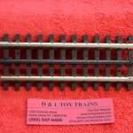"6053 Atlas O scale 3 rail 5 1/2"" straight track"